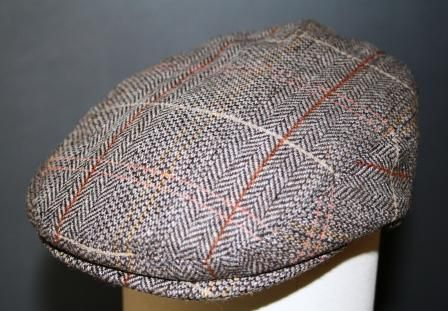 Baby & kids tweed flat cap brown / grey