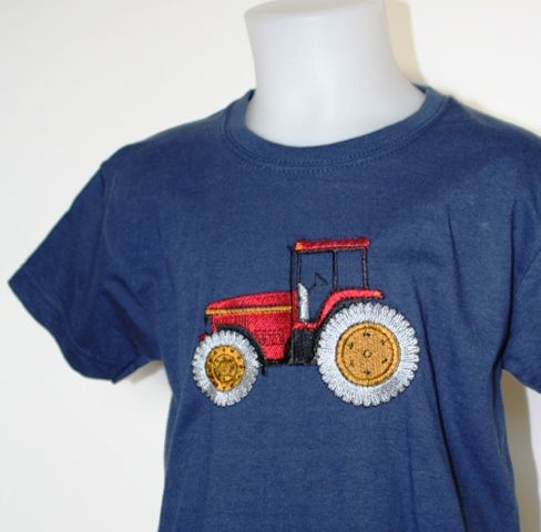 kids t-shirt with Red tractor