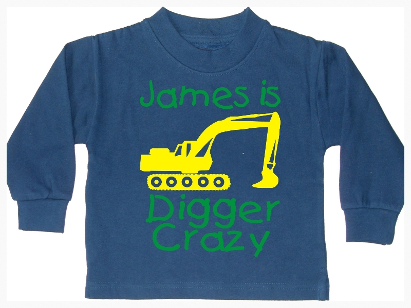 Personalised Digger Crazy sweatshirt