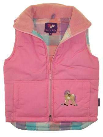 pony Bodywarmer in pink
